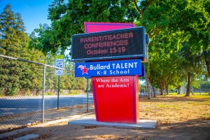 School Sign Bullard Talent