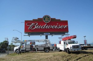 Architecture Budweiser Exposed Neon Channel Letter