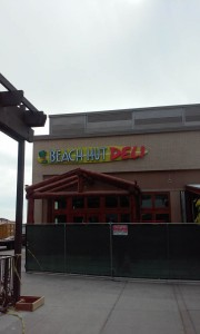 REstaurant Beach Hut Deli Channel Letter on Backer