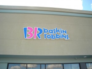 Restaurant Baskin Robins Channel Letter