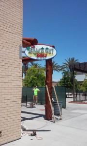 Restaurant Beach Hut Deli Blade sign