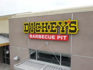 Restaurant Dickey's Channel Letter