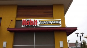 Restaurant Habit Burger Halo-lit Channel Letter