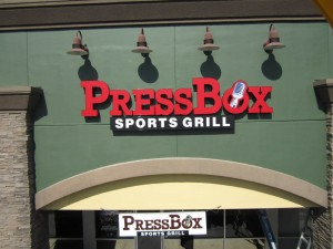 Restaurant Press Box Channel Letter